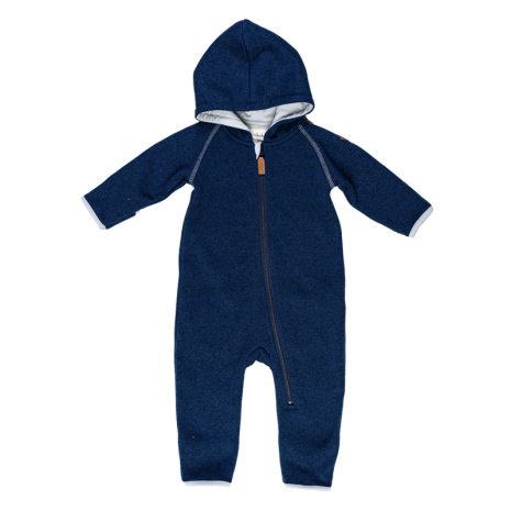 Mags - Navy blue fleece suit for babies