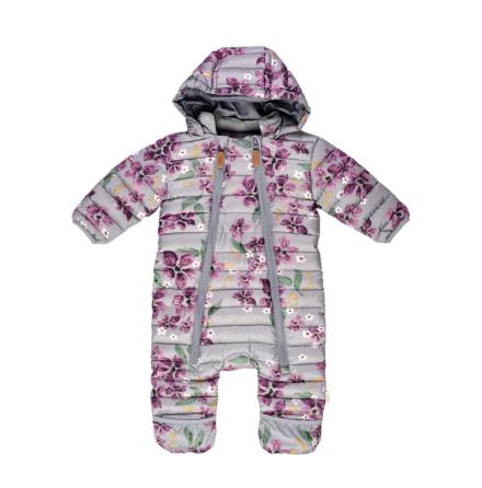 Demi - Printed quilted baby winter suit