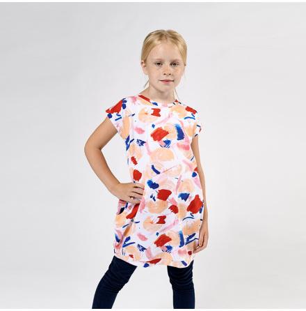 Zara - Printed jersey dress for children