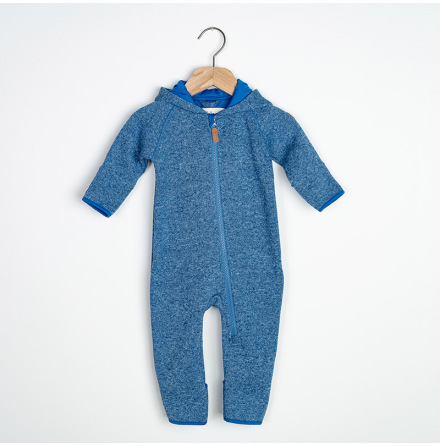 Eden -  Blue fleece suit for baby
