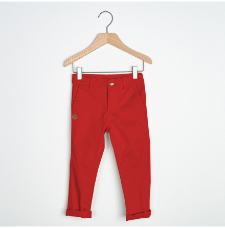 Sten - Red chinos pant for children