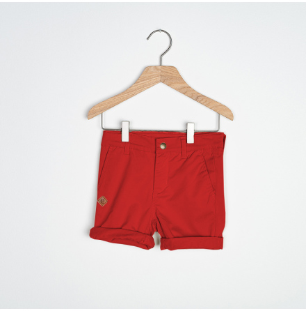 Soda - Red chinos shorts for children