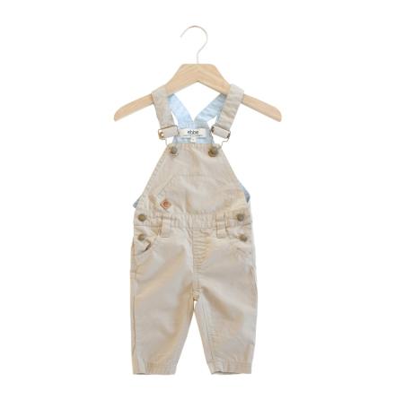 Sabbia - Beige dungarees for children