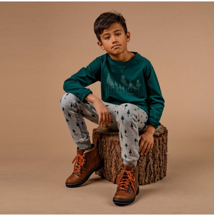 Garland - Green sweatshirt for children