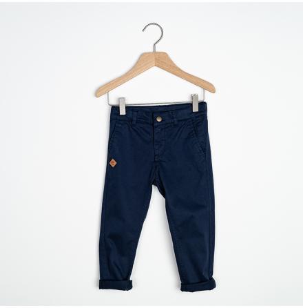 Sten - Navy blue chinos pant for children