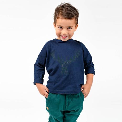 Ivo - Nanvy blue long sleeved t-shirt for children