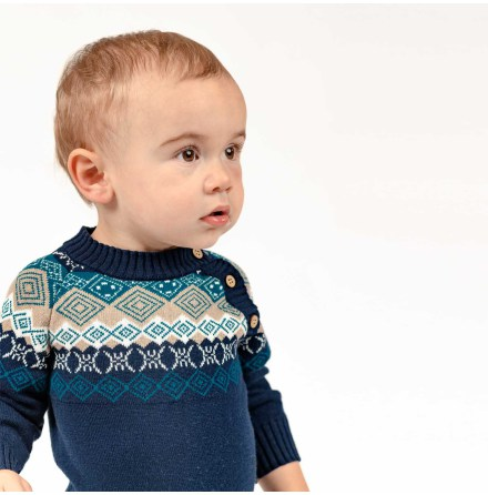 Manolo Knitted Bodysuit for Baby