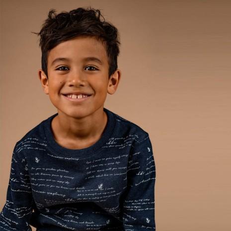 Baird - Printed sweater for children