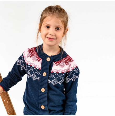 Marcia - Knitted cardigan for children