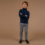 Marion - Navy blue knitted turtleneck for children