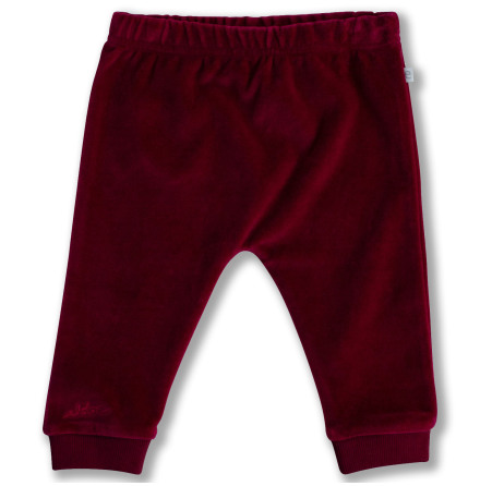 Jackson - Red velour pants for baby