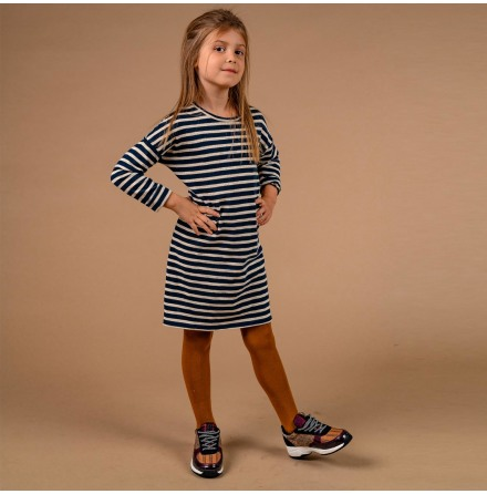 Melissa - Striped jersey dress for children