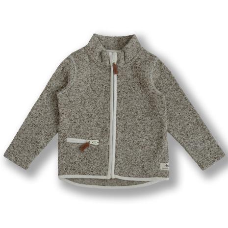 Dash - Beige fleece jacket for children