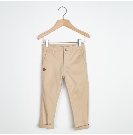 Sten - Beige chinos pant for children