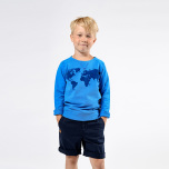 Soda - Navy blue chinos shorts for children