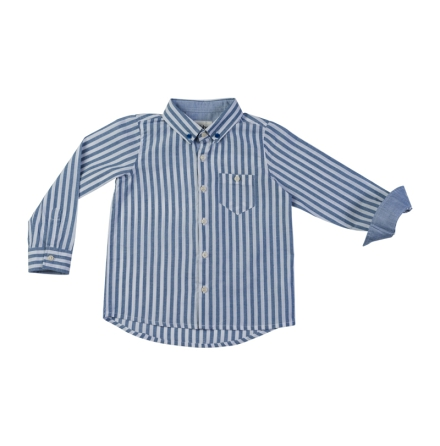 Ramon - Striped cotton shirt for children