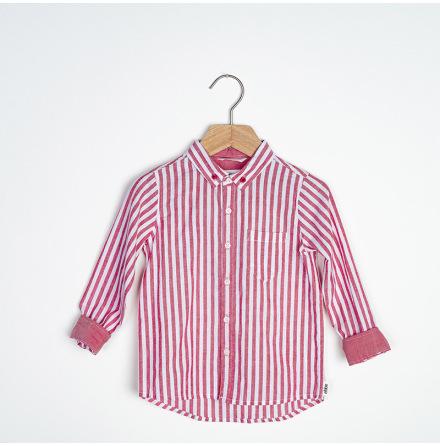 Ramon - Striped cotton shirt for children