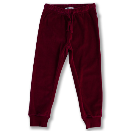 Jagger - Red velour pants for children