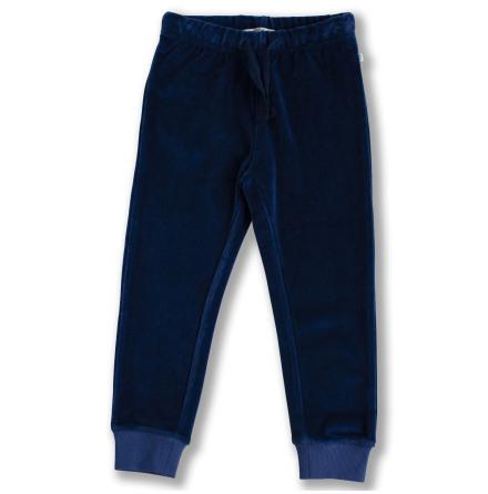 Jagger - Blue velour pants for children