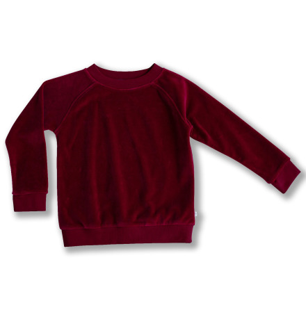 Jacory - Red velour sweater for children
