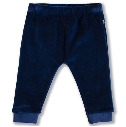 Jackson - Blue velour pants for baby
