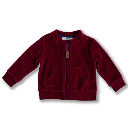 Jamone - Red velour jacket for children