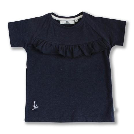 Gia - Navy blue tee for children