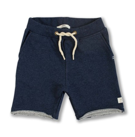 Rick - Navy blue sweat shorts for children