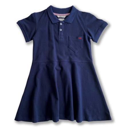 NEWS - Havanna - Navy blue pique dress for children