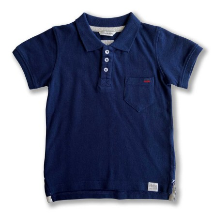 Harper - Navy blue polo shirt for children