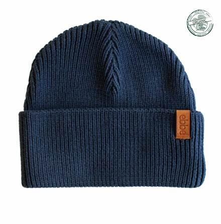 Sid - Navy blue knitted fisherman's beanie for children
