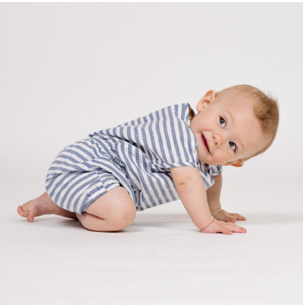 Florida - Striped romper for baby