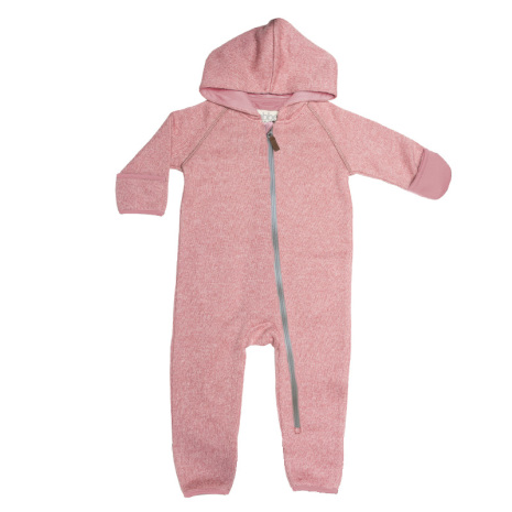 Mags - Pink fleece suit for baby