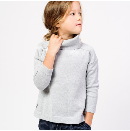 Rijanna - Knitted sweater with poloneck for children